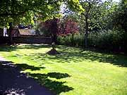 Общежитие, поляна перед домом