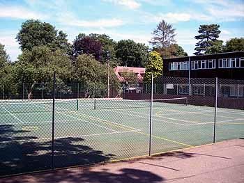 Школа Бокс Хилл, теннисные корты